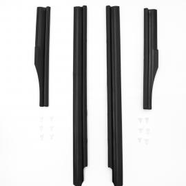 Juego de 4 Pisa Alfombras Color Negro Auto Magic para Golf A2, Jetta A2