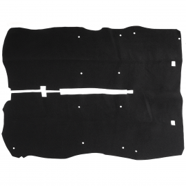 Alfombra Negra Completa de Piso Interior Tipo Original para Aveo