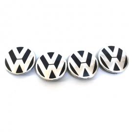Juego de 4 Tapones de Patas Cortas con Emblema VW de Centro de Rin para Golf A4, Jetta A4, Pointer G3, G4, Derby
