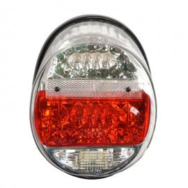 Par de Calaveras Transparentes con Luz Led Mirsa para VW Sedan 1600, 1600i